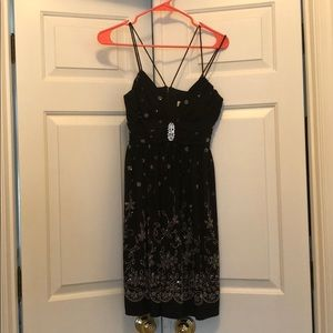 Gorgeous WORN ONCE Black and Silver Embellished
